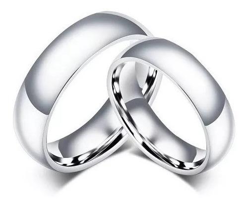 Aliança De Namoro Compromisso Prata Aço Inox 1 Unidade