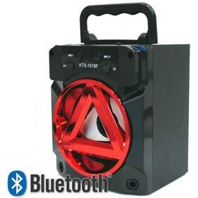 Caixa De Som Portatil Com Bluetooth Kts-1018f - Cor Preta