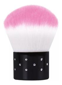 Pincel Espanador Unhas Gel Kabuki Maquiagem Pó Facial Mini