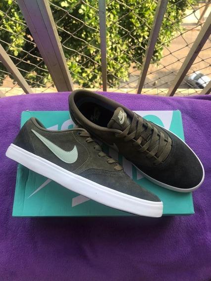 Tênis Nike Sb Check Solarsoft - Novo Na Caixa - Frete Grátis
