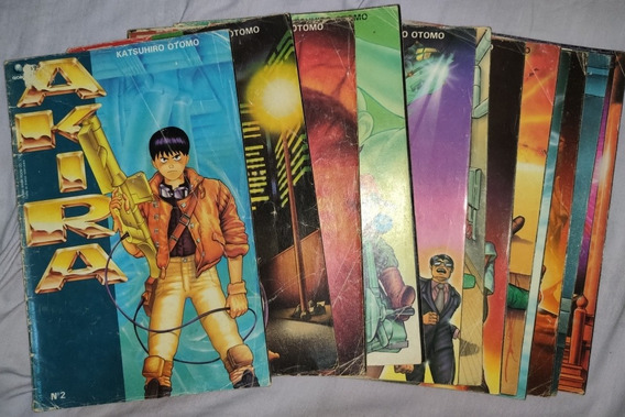 Lote De Revistas Em Quadrinhos Hqs Akira (do 2 Ao 13) Raros