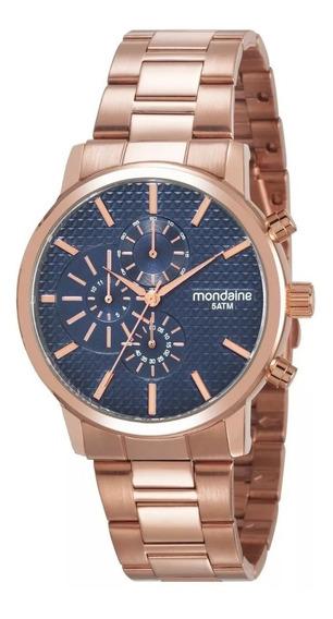 Relógio Mondaine Feminino Dourado Rose Promoção