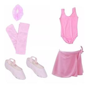 Roupa Ballet Bailarina Kit Uniforme Aula Infantil