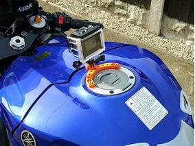 Suporte Gopro Tanque Moto Motocicleta Parafusado Go Pro