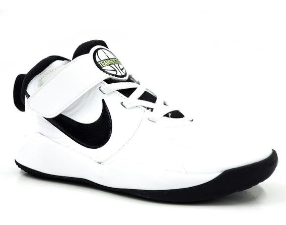 Nike Team Hustle D 9 Aq4225100 Blanco/negro Niño