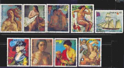 Paraguay 1978 Pinturas Serie Completa Con Aereos Usados