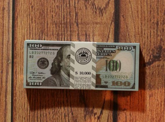 Billetes Cotillón Utileria Dolares Pack X 500 Unid.sin Valor