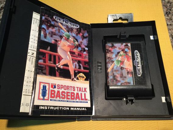 Cartucho Sega Gênesis Baseball Completo!