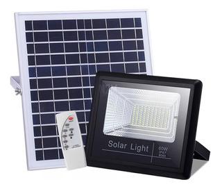 Reflector Solar Led Con Panel Solar 60 W Control Remoto