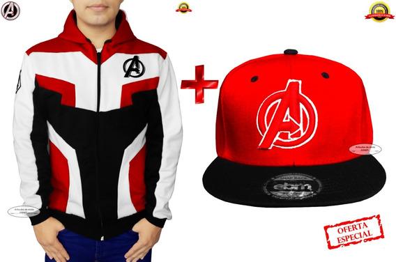 A $299 2x1 Gorra + Chamarra Avengers Sudadera Marvel Endgame