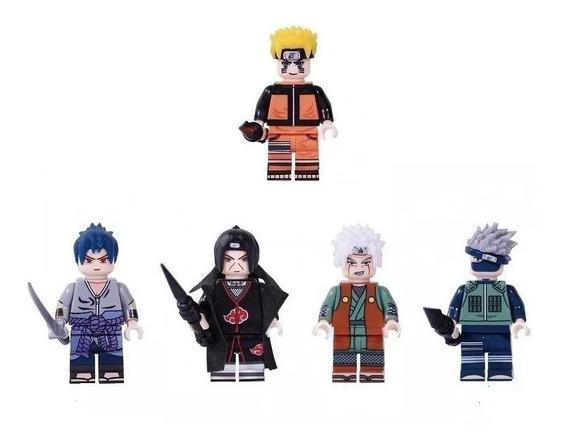 Bloco De Montar Naruto Sasuke Kakashi Itachi Jiraiya