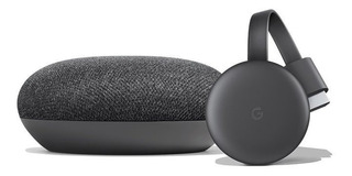 Google Home Mini Asistente Virtual + Chromecast 3 Smart Tv Kit