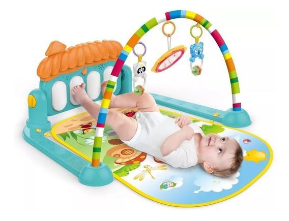 Tapete De Atividades Bebe Com Teclado Musical E Brinquedos