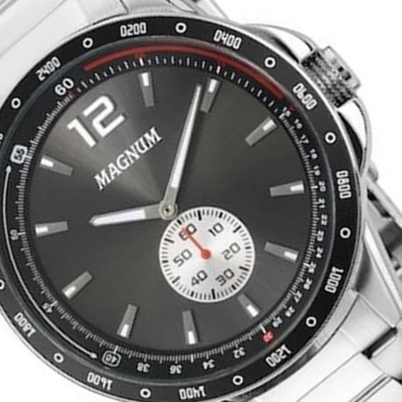 Relógio Masculino Magnum Aço Prata Ma34058w - Lançamento.