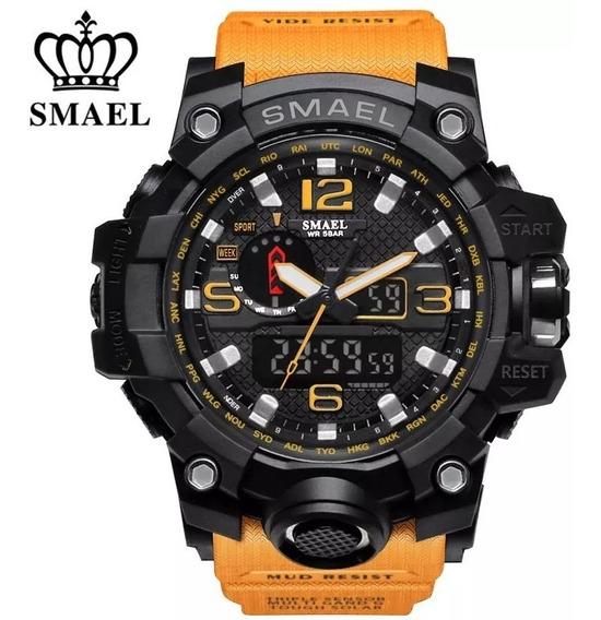 Relógio Masculino Smael 1545 Tático Militar Shock Original