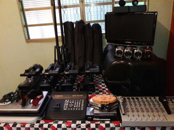 Kit De Filmadoras E Acessórios Para Transmissão Ao Vivo.