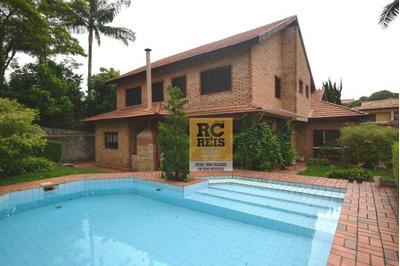 Casa Com 4 Dormitórios Para Alugar, 500 M² Por R$ 12.000/mês - Alphaville Residencial 1 - Barueri/sp - Ca2263