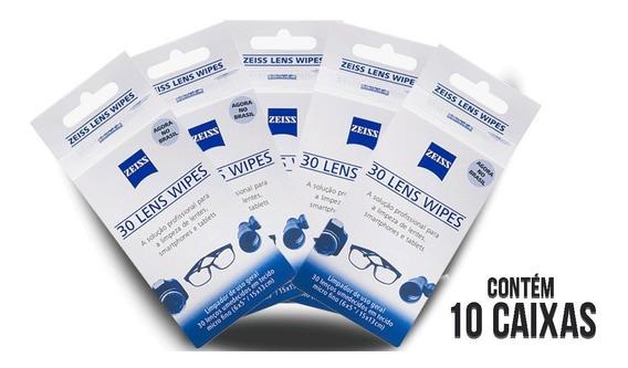 10 Caixas De Lenços Umedecidos Zeiss Lens Wipes Limpeza.