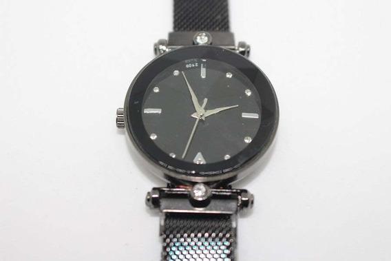 Relógio Pulseira Magnética Preto