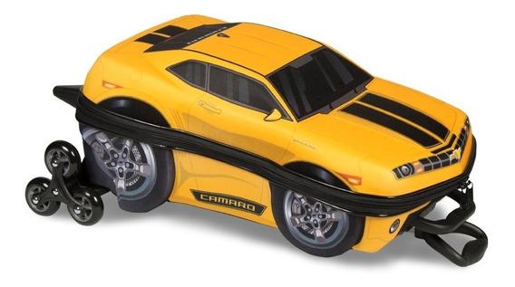 Mochila E Lancheira 3d Camaro Amarelo