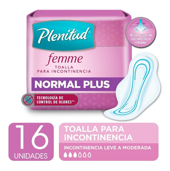 Plenitud Toalla Normal Plus Femme X 16 Unidades