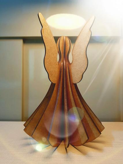 Anjo 3d - Decoração De Mesa - 26cm
