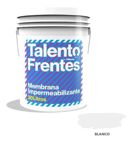 Membrana Polacrin Frentes Muros 25k Talento Impermeable 20 L
