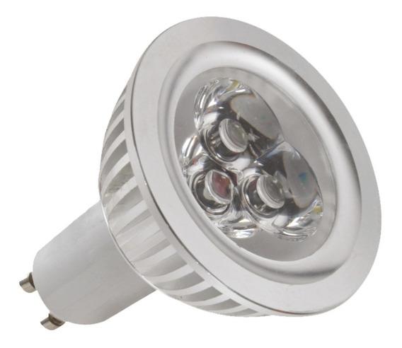 Kit 5 Lampadas Led Dicroica 3w Branco Quente Amarela 1032a