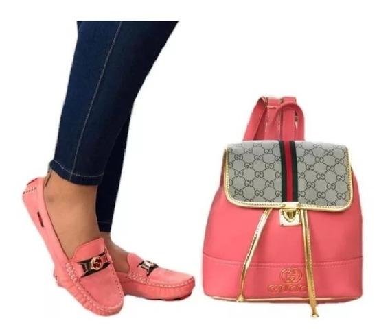 Zapatos Mocasin Dama Gucci, +bolso Morral Dama