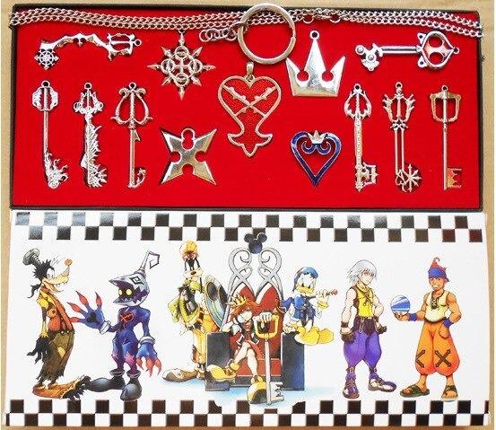 Set 13 Piezas Kingdom Hearts, Collar, Dijes, Cosplay, Sora