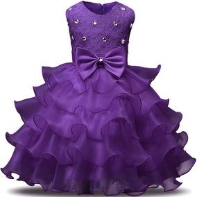 Vestido Niña Fiesta Morado Talla 12/18 Meses - Bazar Amanda