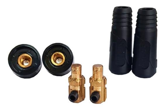 Kit Conector Macho E Femea 9mm Para Inversora Esab Original