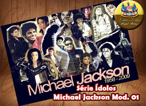 Michael Jackson - Papel Arroz Comestível Série Ídolos
