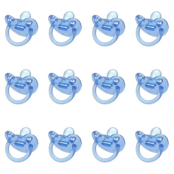 Kuka 2701 Chupeta 100% Silicone Nº1 Orto Azul (kit C/12)