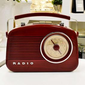 Rádio Mesa Am/fm Retrô Vintage Vermelho Frete Grátis 56911