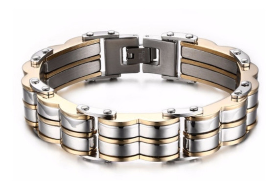 Pulseira 20,50 Cm Bracelete Masculina Ouro 18k Lxbr P149