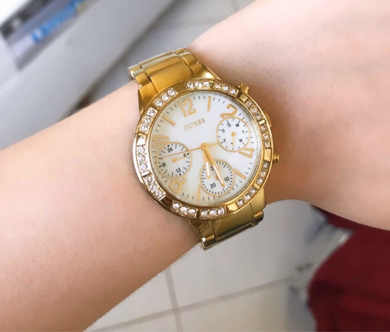 Relógio Guess Original Feminino Ouro Puro