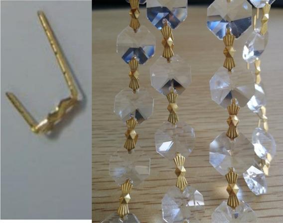 400 Moños Dorados Para Piedras D Cristal Bisuteria O Decorar