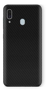 Skin Capa Adesiva Preto Carbono Samsung Galaxy A30