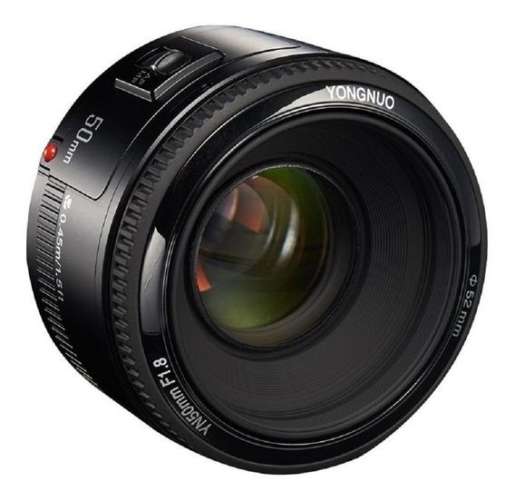 Lente Automatica Yongnuo Câmera Canon 50mm Auto Profundidade
