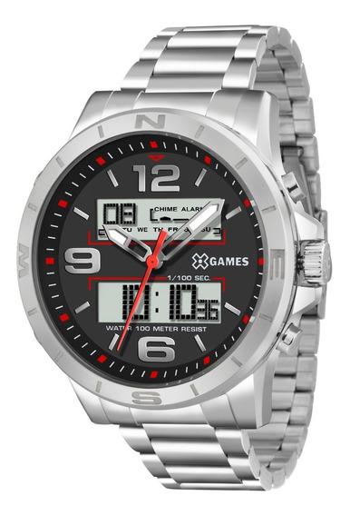 Relógio X-games Masculino Anadigi Xmssa004 P2sx Aço Oferta