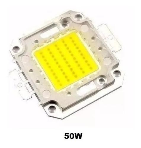 Kit 10 Chip Led 50w Reposição Para Refletor Fator 0.75 6500k