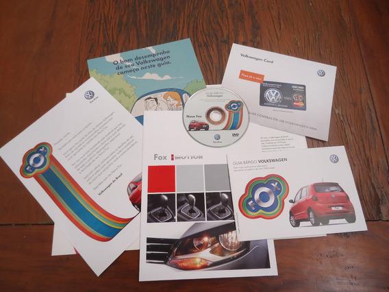 Livretos + Dvd Apresentação Volkswagen Fox 2009/2010