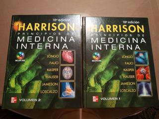 Libros Harrison Medicina Interna 18va Edición. 2 Tomos
