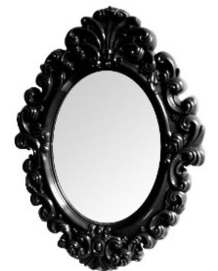 Espelho Preto,espelho Rococo, Espelho Retro,jogo De Espelho