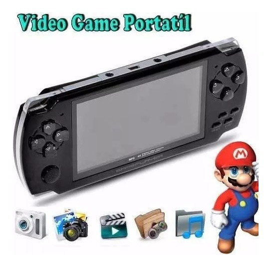 Video Game Portátil 10mil Jogos Player Mp3 Mp4 Mp5 Pmp Nes