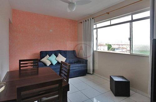 Apartamento Com 2 Dormitórios, 1 Vaga Demarcada, À Venda, 66 M² Por R$ 265.000 - Estuário - Santos/sp - Ap10528