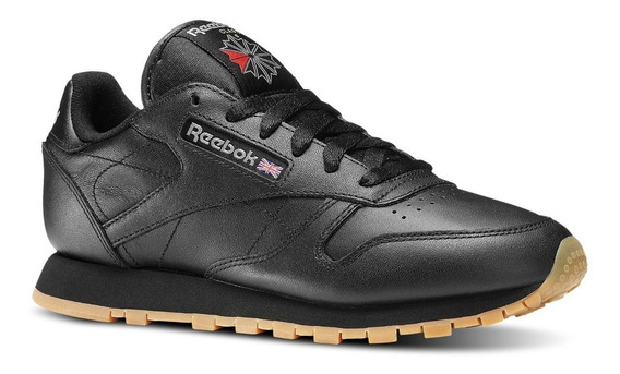 Zapatillas Reebok Classic Leather Neg De Mujer