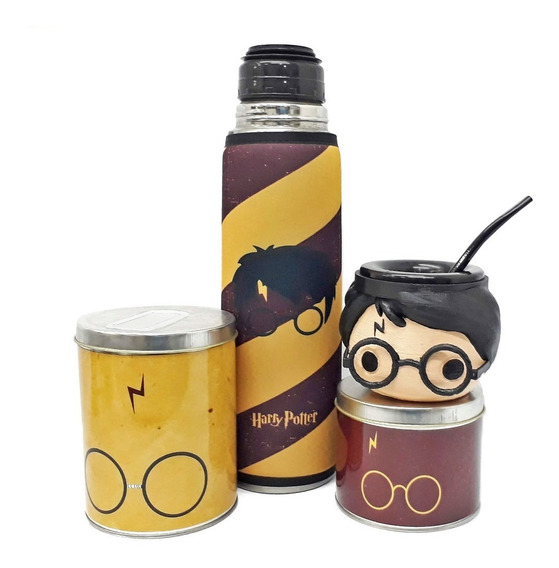 Mate Harry Potter + Termo + Azucarero + Yerbero
