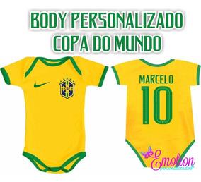 Body Bebê Infantil Copa 2018 Brasil Meninos E Meninas